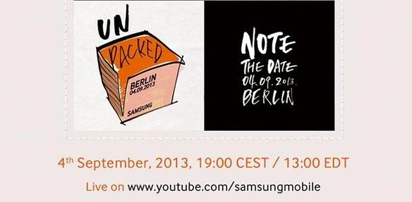 Samsung Galaxy Note 3: Unpacked-Event am 4. September, kommt mit Android 4.3