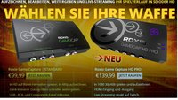 Roxio Game Capture und Game Capture HD Pro mit 30 Euro Rabatt
