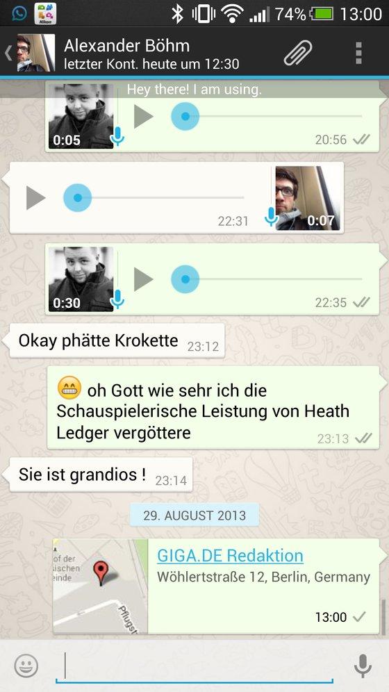 WhatsApp Standort verschicken