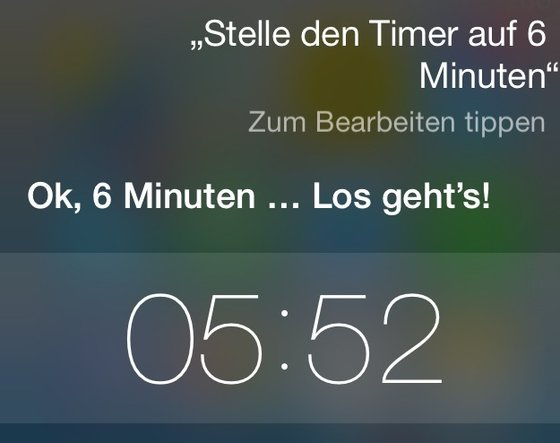 Siri iPhone Timer stellen