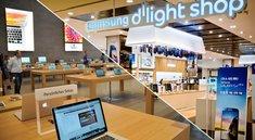 Betthupferl: Apple Store versus Samsung Store (Bilder)