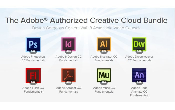 The Adobe Authorized Creative Cloud Bundle für ca. 60 Euro