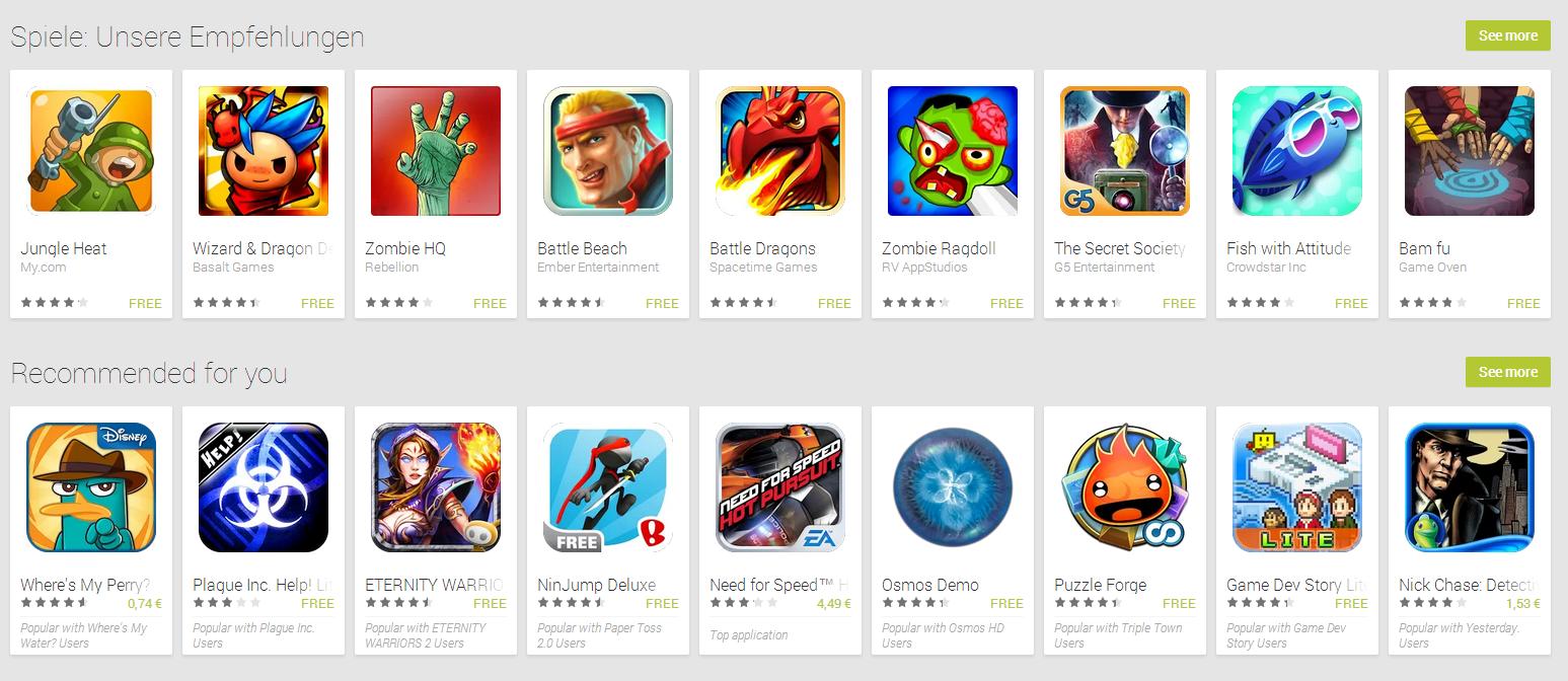 Top Handy Spiele