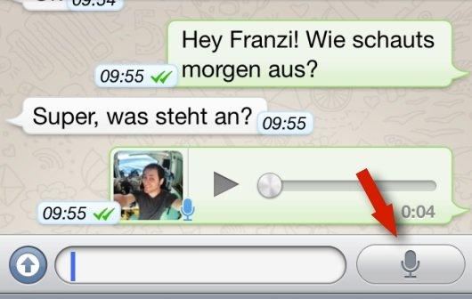 WhatsApp bietet Sprachnachrichten – so geht's