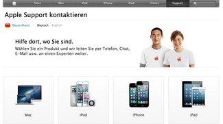 AppleCare: Apple schaltet neue Touchscreen-freundliche Website mit Chat-Support