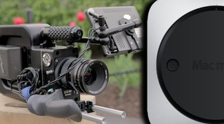Filmkamera mit eingebautem Mac Mini (Fundstück)