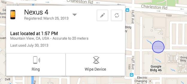 Android: offizieller Dienst zum Finden und Löschen verlorener Geräte angekündigt