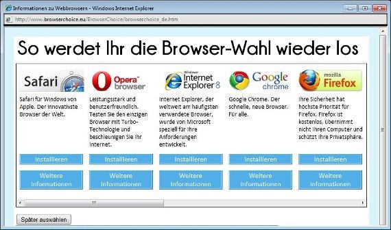 Windows 8-Browserwahl: Was ist das und wie deaktiviere ich es