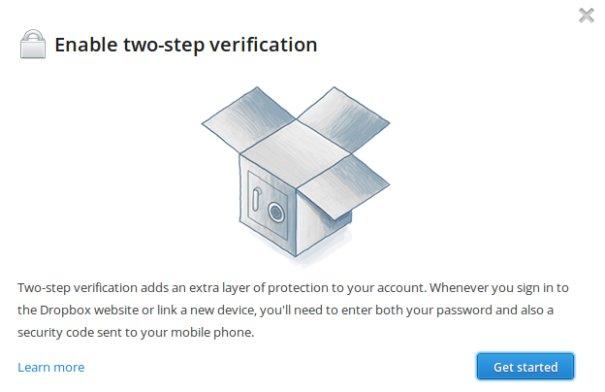 Dropbox: Mit der 2-Schritt-Verifikation ist unbedingt mehr Sicherheit garantiert
