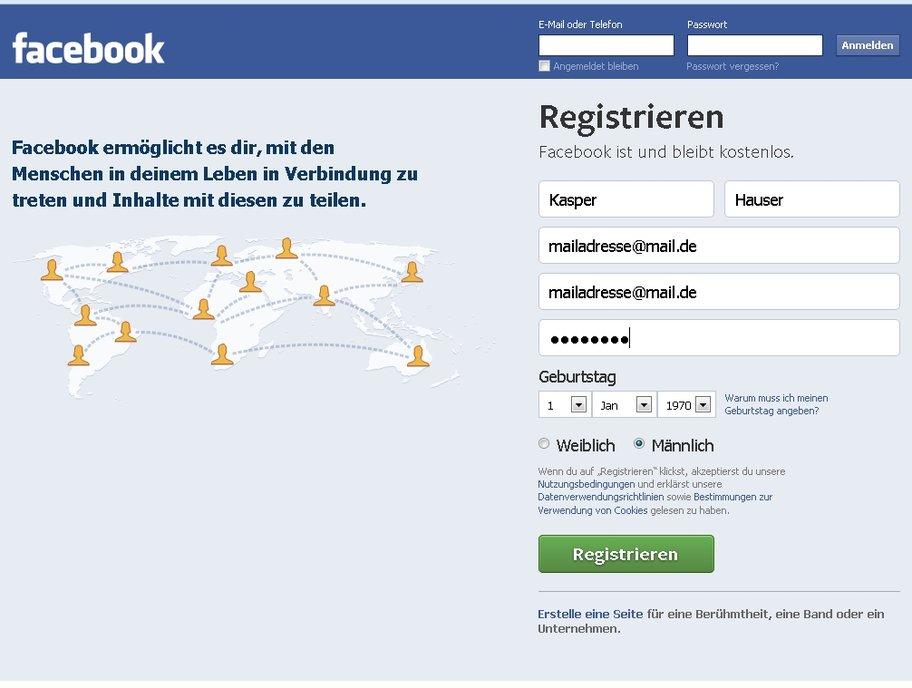 facebook anmelden startseite