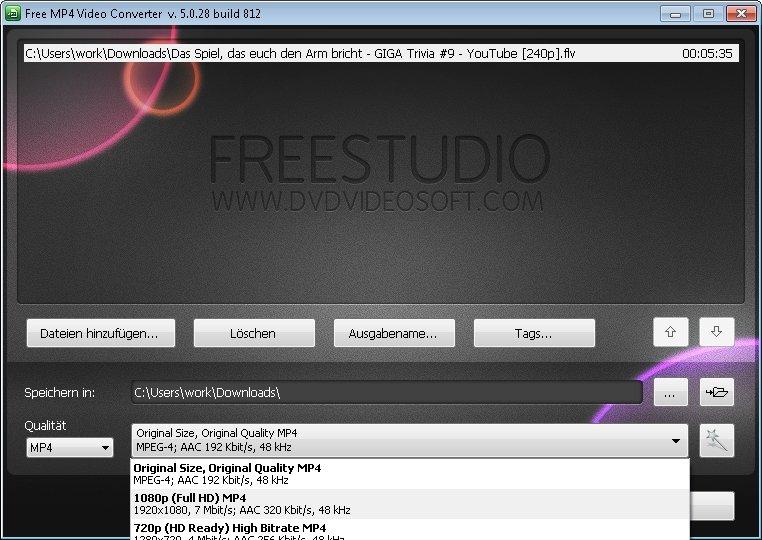 free flc to mp4 video konverter