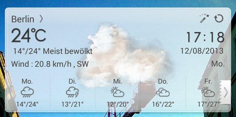 Go Weather Ex: Viele Funktionen und mehrere Wetter-Orte bestimmbar.