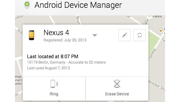 "Android Device Manager: Googles ""Find my iPhone""-Pendant jetzt online"