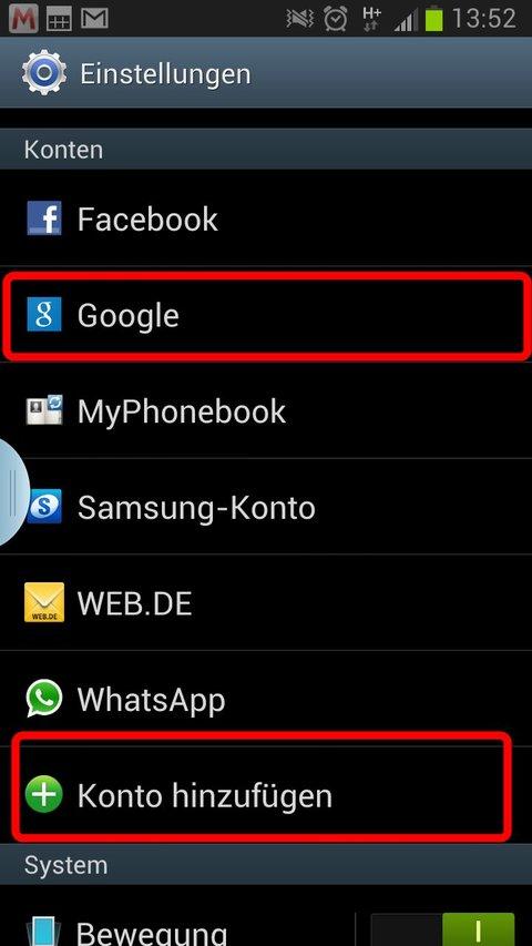 google-konto-android-hinzufuegen