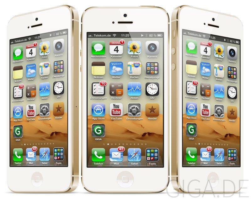 iPhone 5S Champagne - GIGA Mockup vom Juli