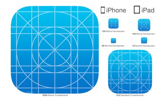 iOS 7: Apple erinnert Entwickler an neue Icon-Maße
