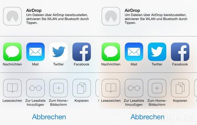 Neues Twitter-Icon - Beta 5 vs Beta 4