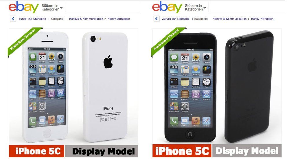 iPhone 5C Attrappen auf eBay