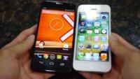 Moto X vs. iPhone 5 (Vergleich, Video und Kommentar)