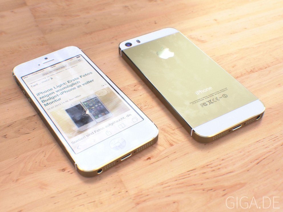Mockup: iPhone 5S in Weiß & Champagner/Gold