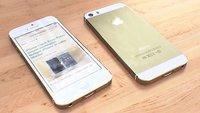 iPhone 5S: So dürfte die goldene Farbvariante aussehen