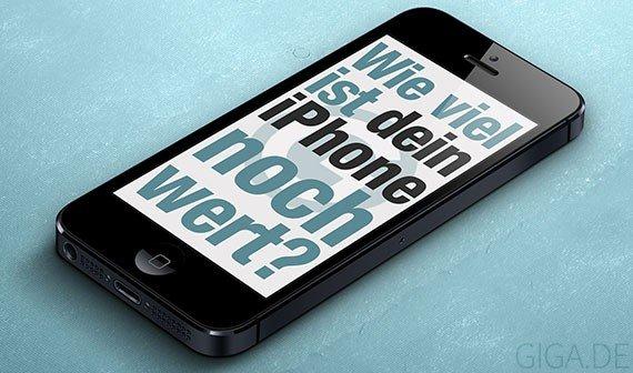 Infografik: Wie viel ist dein iPhone noch wert?