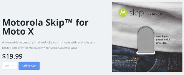 Motorola Skip: Accessoire entsperrt Moto X mittels NFC