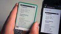 E-Ink-Displays: NFC genügt als Stromversorgung