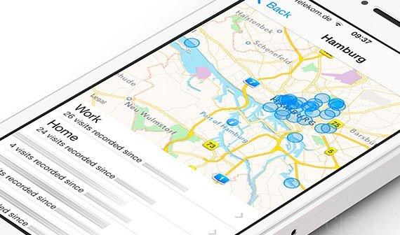 """iOS 7: Neues Feature """"Häufige Orte"""" zeigt, was Mobilfunkanbieter über uns wissen"""