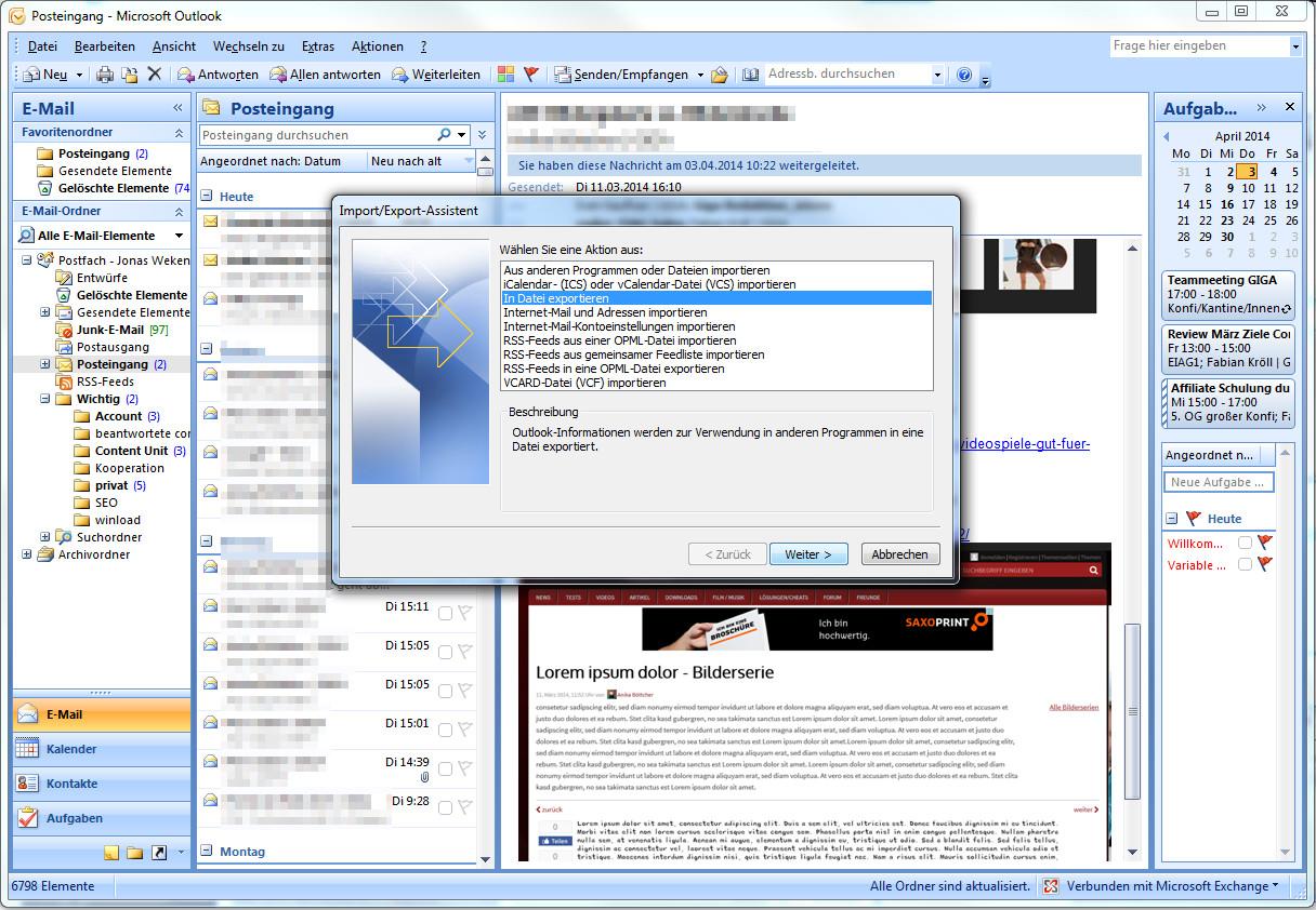 Outlook Kontakte Exportieren So Könnt Ihr Euer Adressbuch