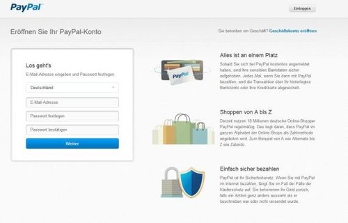 Paypal Anmeldung Nicht Möglich