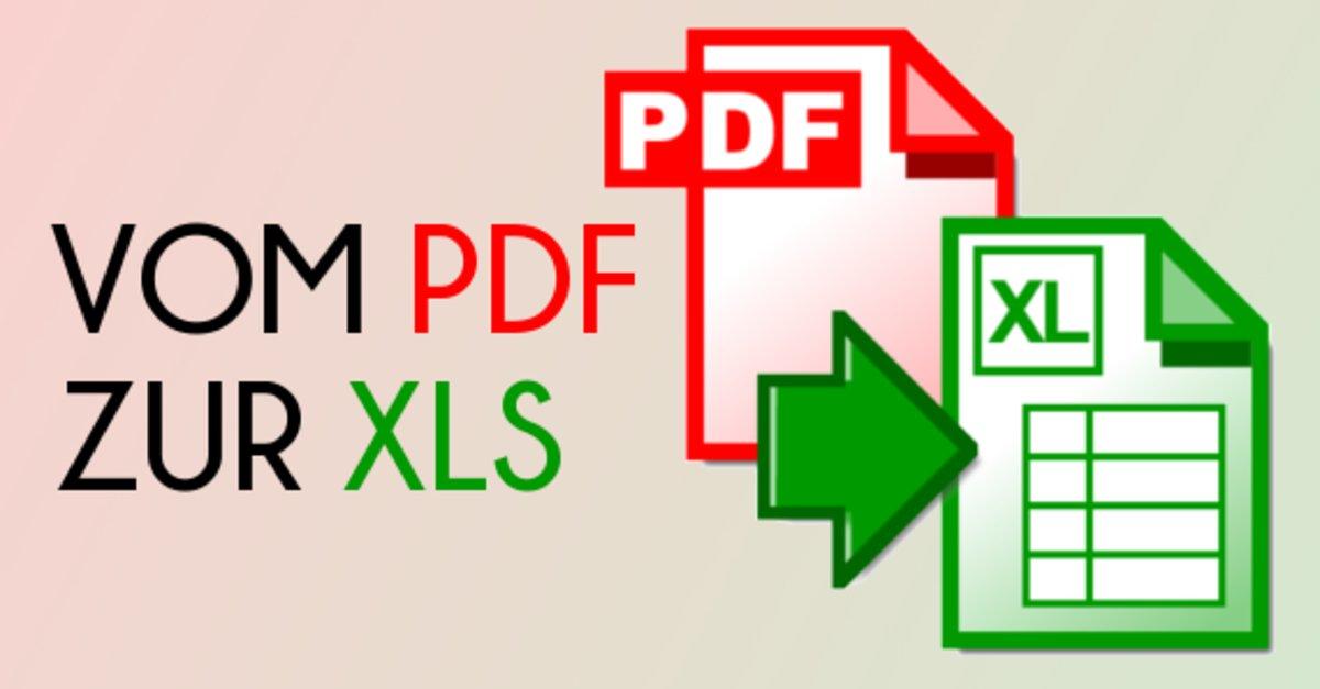 Pdf In Excel Umwandeln Freeware