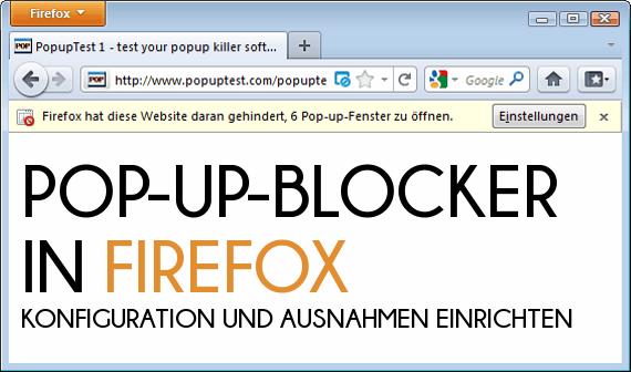 Pop Up Blocker Firefox Deaktivieren