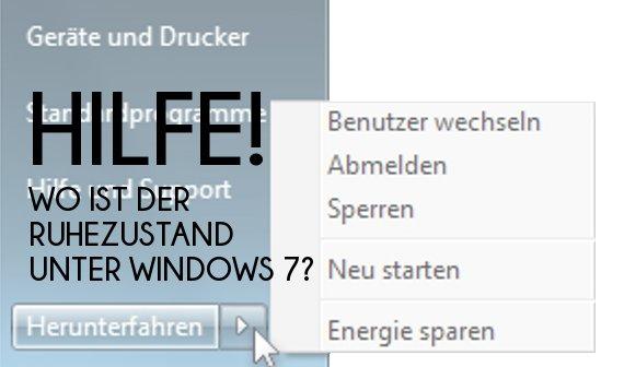 Ruhezustand in Windows 7 aktivieren – So wird's gemacht
