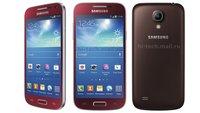 Farbenspiele: HTC One in Blau gesichtet, Galaxy S4 mini in Rot, Braun & Blau [UPDATE: auch in Lila]