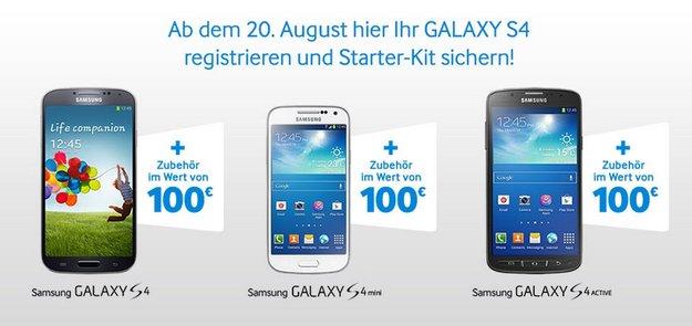 Samsung Galaxy S4, S4 active, S4 mini: Gratis-Zubehör dank Starter-Kit-Aktion [UPDATE]