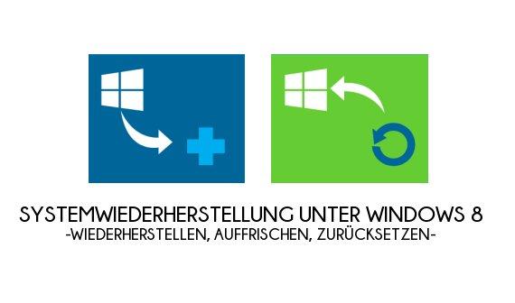 Windows 8 Systemwiederherstellung: Wiederherstellen, Auffrischen und Zurücksetzen