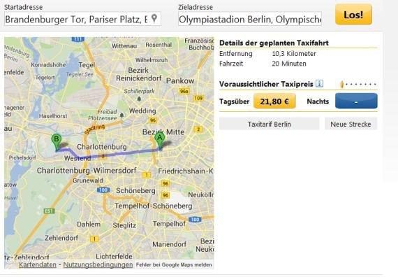 Taxikosten Berechnen Berlin : taxikosten berechnen online mit app android iphone und im browser giga ~ Themetempest.com Abrechnung