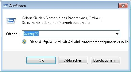 windows temporaerer ordner finden