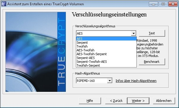 truecrypt verschluesselung