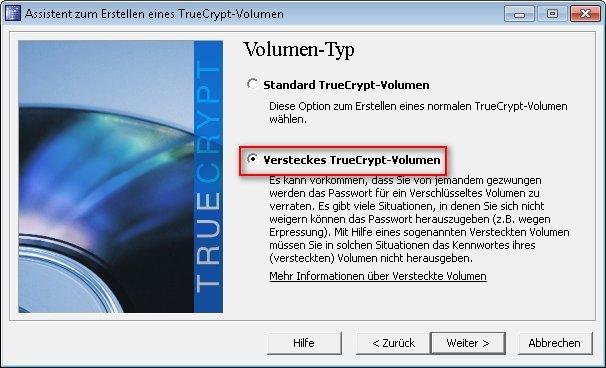 truecrypt verstecktes volumen 02