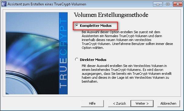 truecrypt verstecktes volumen 03