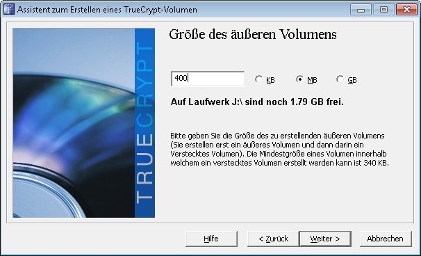 truecrypt verstecktes volumen 05