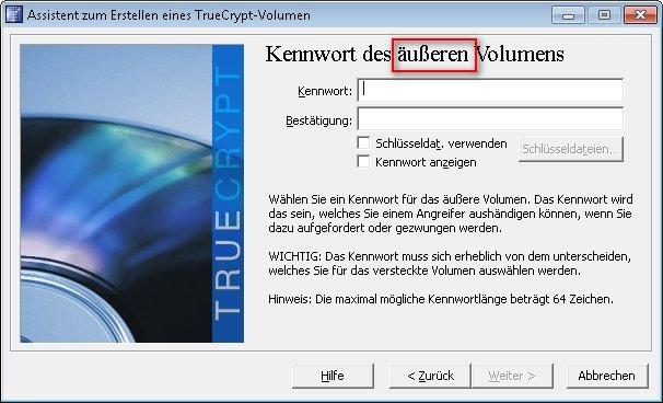 truecrypt verstecktes volumen 06