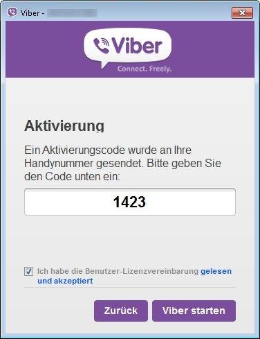 viber verbindung code