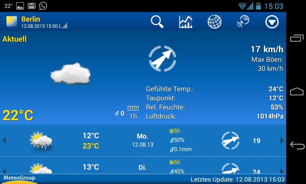 Weather Pro: Profi-Wetter-App mit vielen Funktionen zum kleinen Preis.