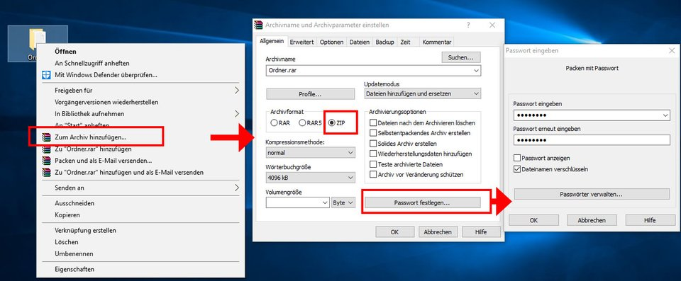 Windows 10: So erstellt ihr einen passwortgeschützten Ordner.