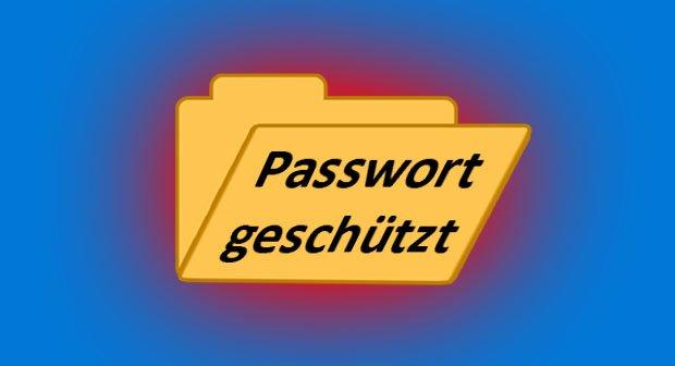 In Windows könnt ihr einen Ordner mit einem Passwort schützen.