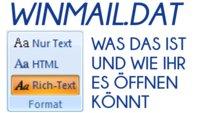 Winmail.dat öffnen: Wie man den E-Mail-Anhang aufkriegt