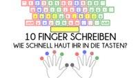 10 Finger schreiben: 3 Tipp-Tests, die euch wirklich herausfordern